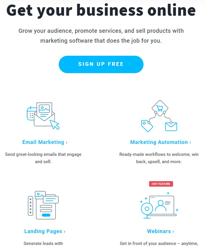 Free signup Email Marketing